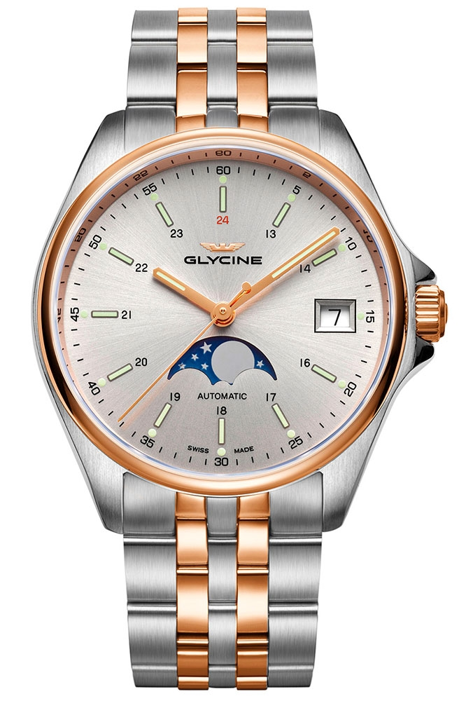 Glycine Combat Mens Automatic 36 mm Stainless Steel Case Silver Dial - Model GL0194