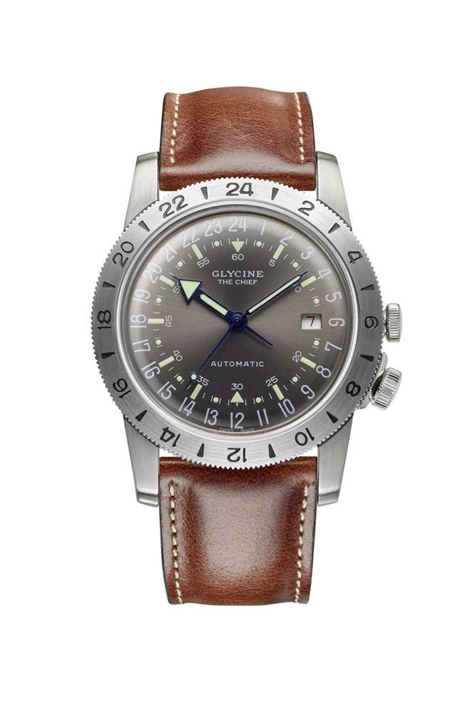 Glycine Airman Mens Automatic 40 mm Stainless Steel Case White Dial - Model GL0251