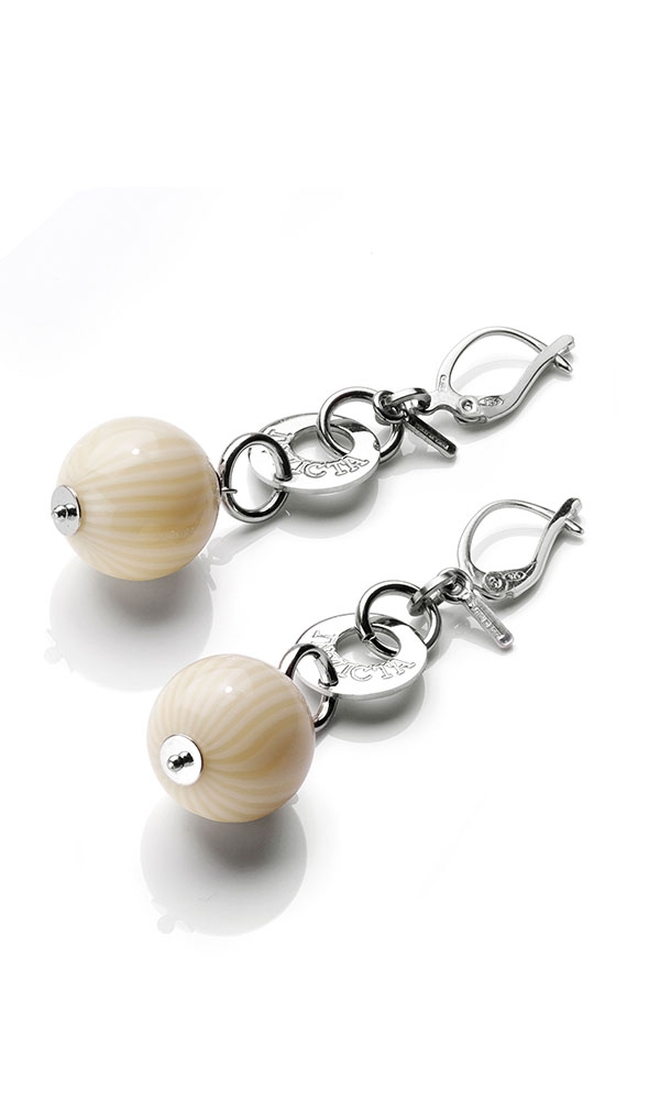 INVICTA Jewelry PERSHEPONE Earrings None 10 Silver 925 and Artificial Ivory Rhodium+Ivory - Model J0175