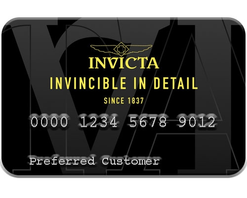 Invicta Watch Stores Financing Card