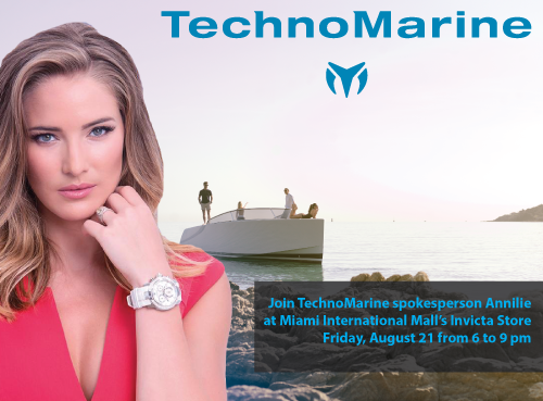 Annilie for TechnoMarine at Invicta Store Miami